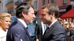 Le baiser de la mort d'Estrosi à Macron sur