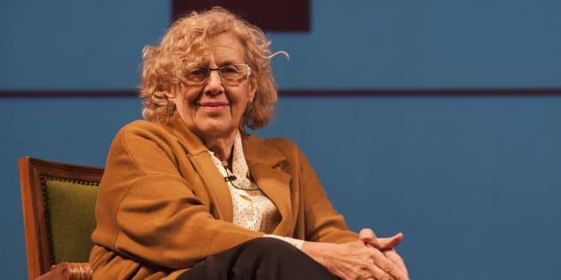 La alcaldesa de Madrid, Manuela Carmena, en la presentación de la temporada del Teatro Español. Quim Llenas/Getty Images