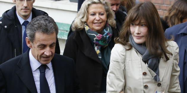 Nicolas Sarkozy et Carla Bruni-Sarkozy à Paris le 20 novembre 2016.