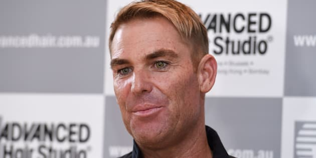 Warnie is an ambassador for the hair replacement specialists, because if there's anything a company needs it's a top spinner.