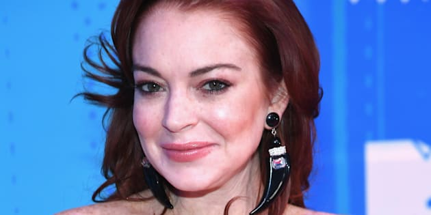 Lindsay Lohan en los MTV EMA.