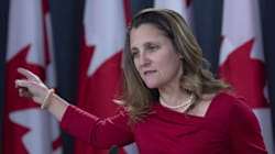 China Hits Back At Freeland, Says She 'Can't Help Speaking Without