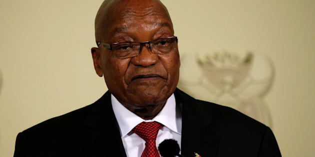 Former president Jacob Zuma, who resigned on Wednesday night.