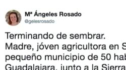 La reflexión de esta joven agricultora de Guadalajara que arrasa en