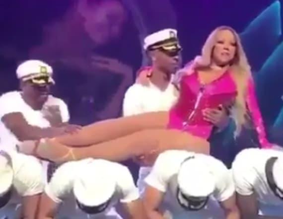 Clip of Mariah Carey lazily dancing goes viral