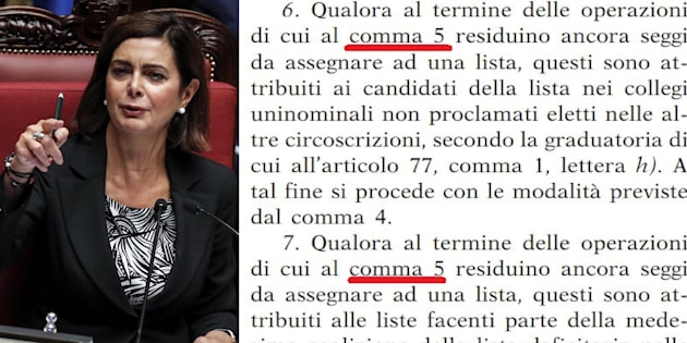 """La Presidenza della Camera corregge """"l"""