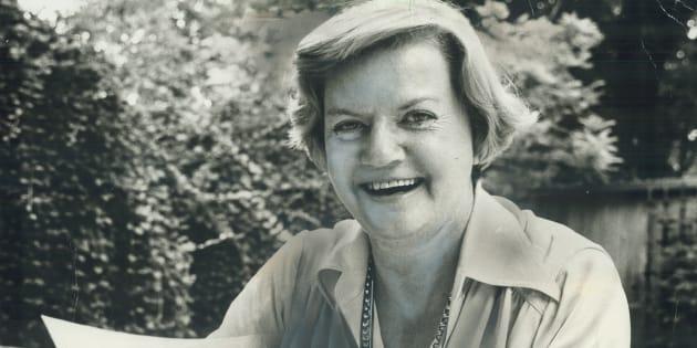 L'auteure et journaliste Doris Anderson.