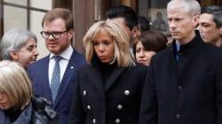 Brigitte Macron, Smaïn et Vladimir Cosma aux obsèques de Michel