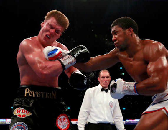 Anthony Joshua beats Povetkin in thrilling fight