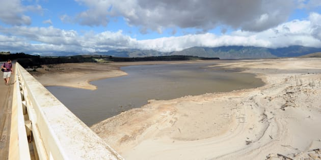 A general view of Theewaterskloof Dam on January 25, 2018 in Villiersdorp, South Africa.