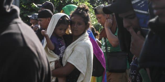 Caravana Migrante en su recorrido a la ciudad de Tapachula, Chiapas, el 21 de octubre de 2018.