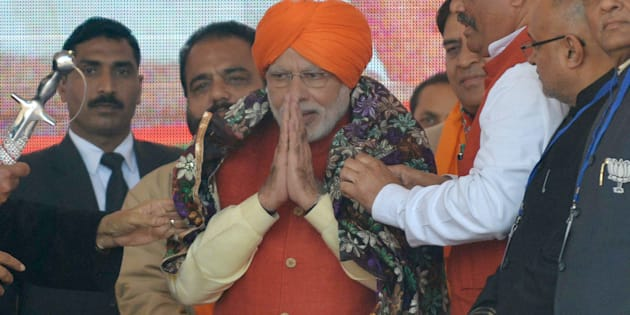 PM Narendra Modi at a rally in Jalandhar on 27 January 2017.