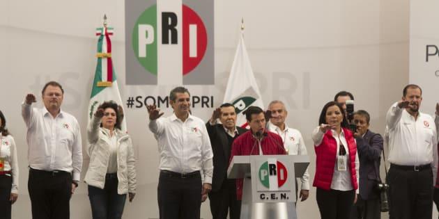 El Presidente de México, Enrique Peña Nieto, encabezó la sesión solemne de instalación del 6 Consejo Político Nacional, que se realizó en la sede nacional del PRI, el 27 de noviembre de 2016.