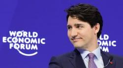 Justin Trudeau et ses chaussettes ont encore fait mouche au Forum de