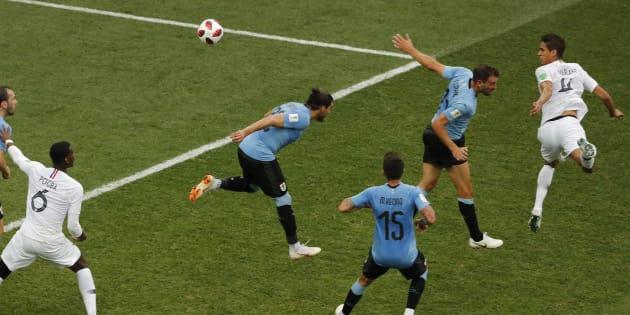 Match France-Uruguay: La superbe tête de Varane qui brise la malédiction uruguayenne des Bleus