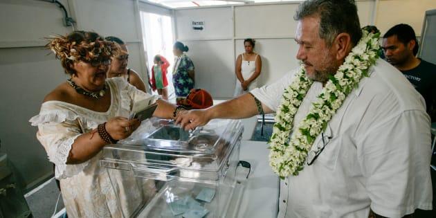 La Polynésie française votait avec une semaine d'avance sur la métropole.