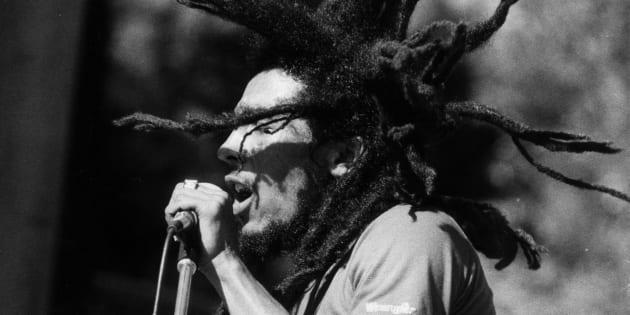 Bob Marley en un concierto.