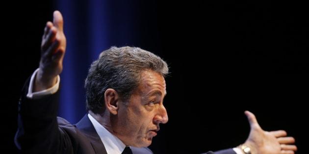 Nicolas Sarkozy, en meeting au mois d'octobre.