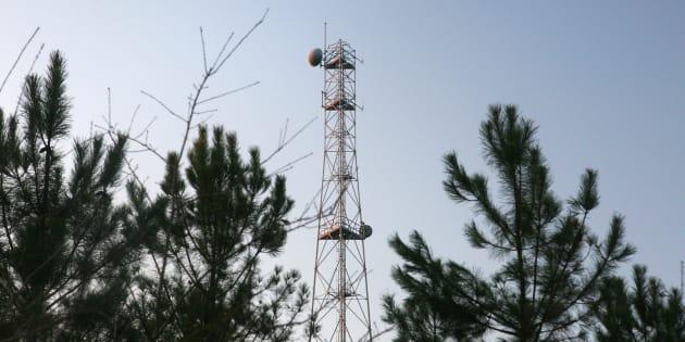 Une antenne de téléphonie mobile à Arjuzanx dans les Landes.