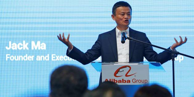 Jack Ma s'exprimant à Kuala Lumpur pour le lancement d'Alibaba en Malaisie, en juin 2018