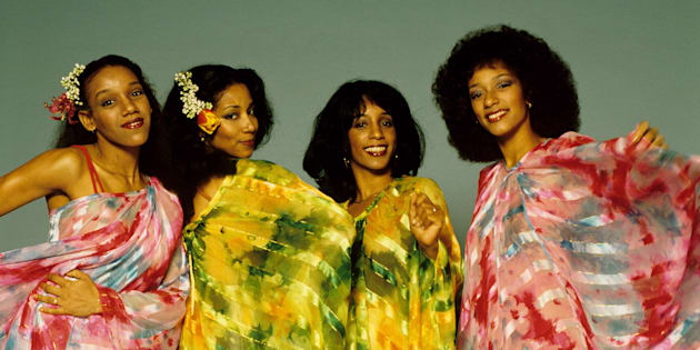 Joni (second from right) with her sisters.