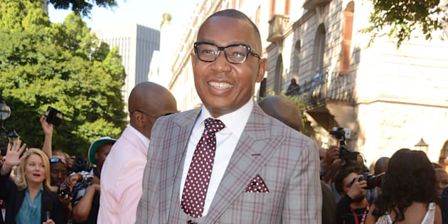 South African Deputy Minister of Higher Education Mduduzi Manana at the State of the Nation address 2017.