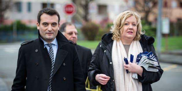Sophie Montel et Florian Philippot en campagne en décembre 2015.