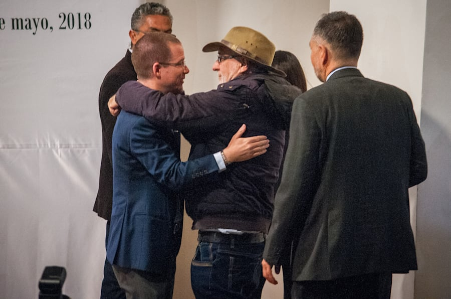 CIUDAD DE MÉXICO, 08MAYO2018.- Ricardo Anaya, candidato de la Coalición Por México al Frente a la Presidencia de la República, durante su participación en Diálogo por la paz y la justicia en el Museo Memoria y Tolerancia.