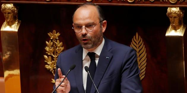 """Philippe (ici le 31 juillet à l'Assemblée nationale) répond à l'opposition sur les motions de censure: """"nous ne ralentirons pas, nous ne lâcherons rien"""""""