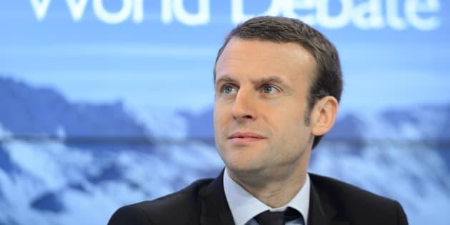 AFP                       Emmanuel Macron lors du forum de Davos en 2016 quand il n'était encore que ministre de l'Economie