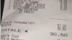 Scontrino omofobo in un ristorante di Roma: