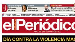 La aplaudida portada de 'El Periódico' por el día contra la violencia