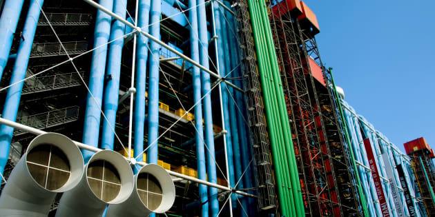 Les tuyaux du Centre national d'art et de culture Georges-Pompidou.