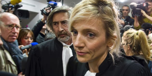 Les avocats Marie Grimaud et Rodolphe Constantino (L), lors du procès de l'affaire Fiona, le 25 novembre 2016.