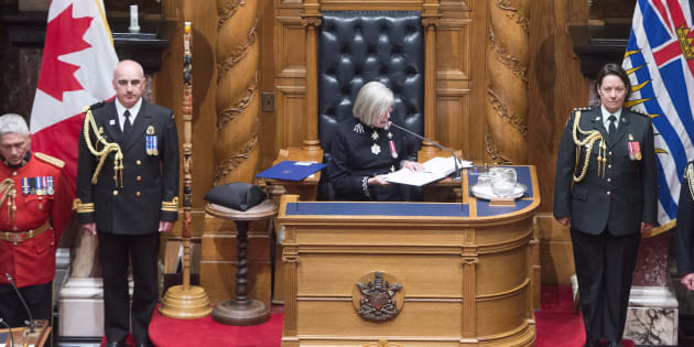 B.C. Lieutenant Governor Judith Guichon reads the Speech from Throne in Victoria on Thursday.