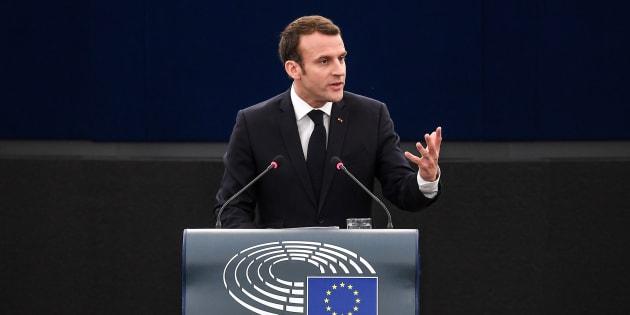 Emmanuel Macron s'est exprimé ce mardi matin devant le Parlement européen.