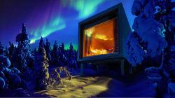 Nieve, silencio y auroras boreales en la comodidad de una cama
