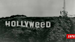 Les célèbres lettres géantes de Hollywood avaient déjà été détournées en