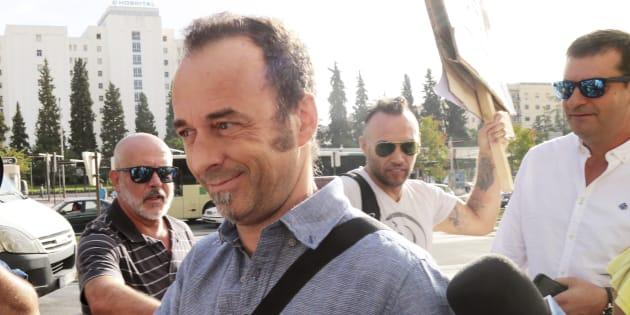 Franceso Arcuri, la expareja de Juana Rivas, a su llegada al Juzgado de Instrucción 2 en la Caleta, Granada, el pasado 8 de agosto.