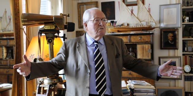 Le président d'honneur du Front national Jean-Marie Le Pen.