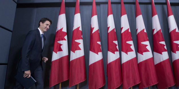 Prime Minister Justin Trudeau arrives for a media availability at the National Press Theatre in Ottawa on June 27, 2017.