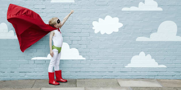 Is is a bird, is it a plane, no -- it's just a regular kid who's keen to help others.
