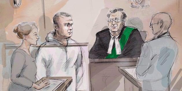 Alek Minassian lors de son passage en cour le 24 avril 2018.
