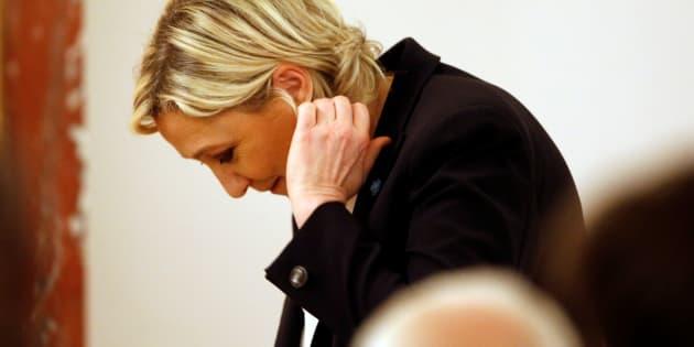 Marine Le Pen à Paris le 13 mars 2017.