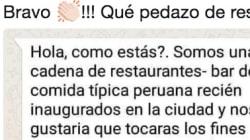 La aplaudida respuesta en WhatsApp a este restaurante que quería que trabajasen