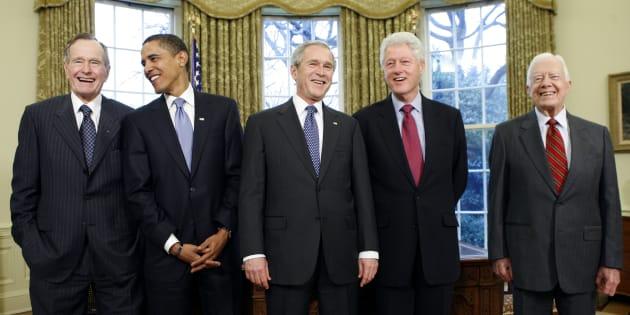 Ce qu'il faut retenir de ces 5 Présidents américains réunis pour soutenir les victimes des ouragans.