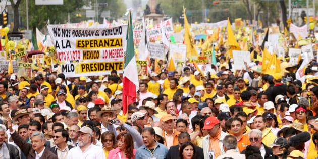 En Julio del 2006, en la Ciudad de México, se realizó una protesta masiva tras los resultados electorales.