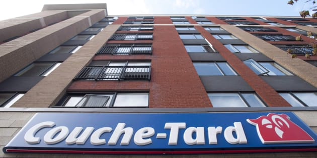 Signage of a Couche-Tard convenience store is shown in Montreal in an October 5, 2012, file photo.