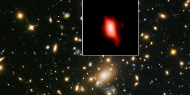 Découverte d'une galaxie née peu de temps après le big bang