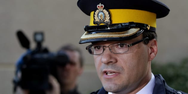 RCMP Insp. Tim Shields speaks to reporters on April 9, 2010.